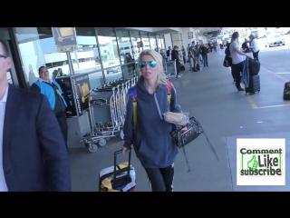 Tara Reid arriving at LAX Airport in Los Angeles