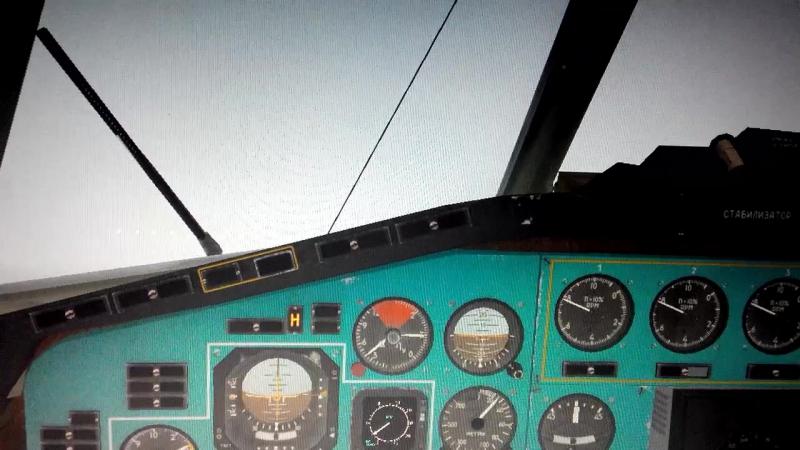 ULLI TU-154m. Директорный. Ниже минимума.