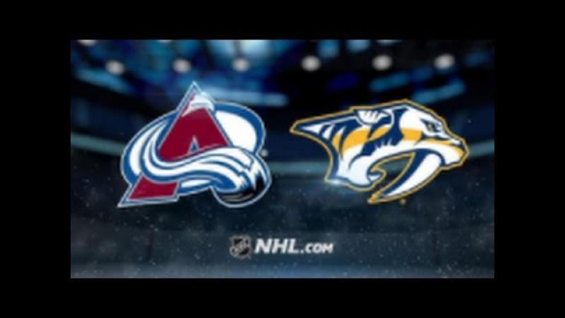 Colorado Avalanche vs Nashville Predators NHL Game Recap