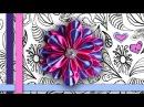 DIY Как сделать многослойный атласный цветок канзаши своими руками МК (English subs)