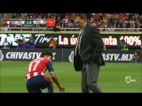 The Club America coach stole the ball from an opposing player!