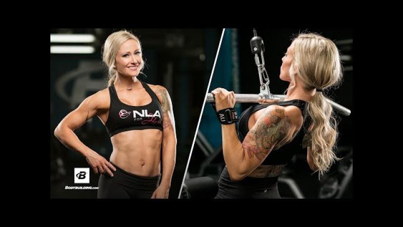 Sculpted Back Biceps Gym Workout Routine | IFBB Bikini Pro Amy Updike