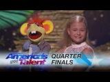 Darci Lynne 12-Year-Old Ventriloquist Dedicates Song to Mel B - America's Got Talent 2017