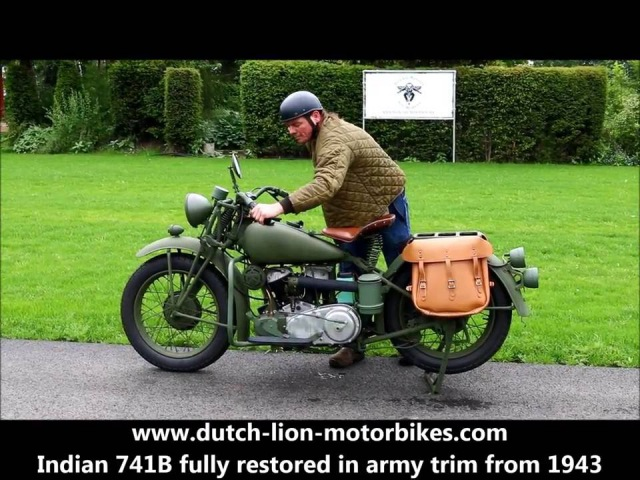 Indian 741B fully restored in army trim from 1943