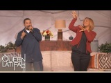 Web Exclusive Ice Cube Raps On The Queen Latifah Show