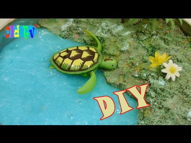 Как Сделать Пляж Песок Лизун Игрушка DIY How To Make Beach Sand Slime Toys Old Tv!