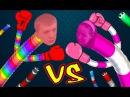 Собираем жирную змею в СЛИЗАРИО Мама против папы ЧЕЛЛЕНДЖ мультяшная игра про червяка канал ffgtv