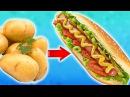 Супер Вкусный Картофельный Хот Дог с Хрустящей Корочкой