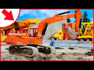 Diggers for children: The Excavator - Construction Trucks Video for Kids