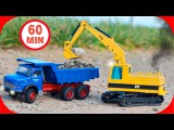 The Yellow Excavator Cartoon for kids | Diggers Cartoons for children | Construction Trucks Video