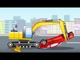 Excavadoras - Carritos para niños - Caricaturas de carros - La Excavadora