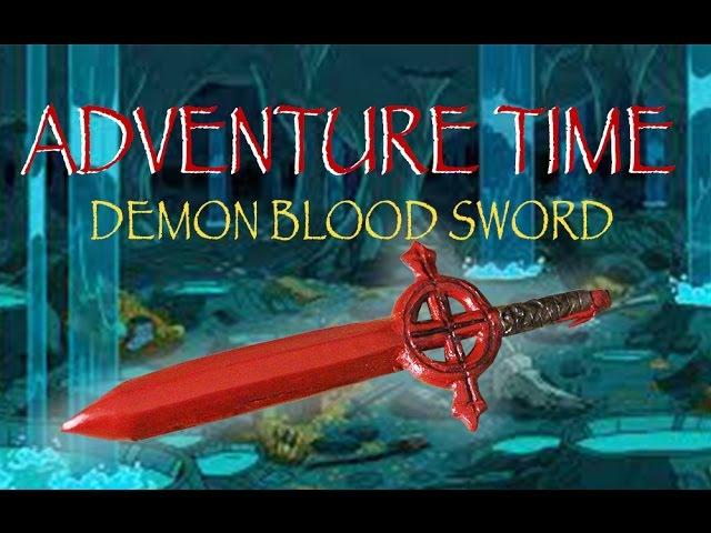 Adventure Time   Finn's Red Demon Blood Sword   Polymer Clay Tutorial