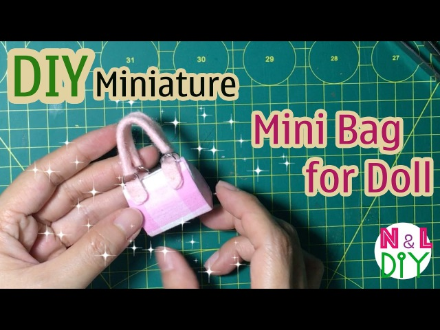 DIY Miniature Bag for Doll | Dollhouse