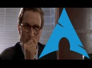 Comparing Arch Linux Rices American Psycho Business Card Scene