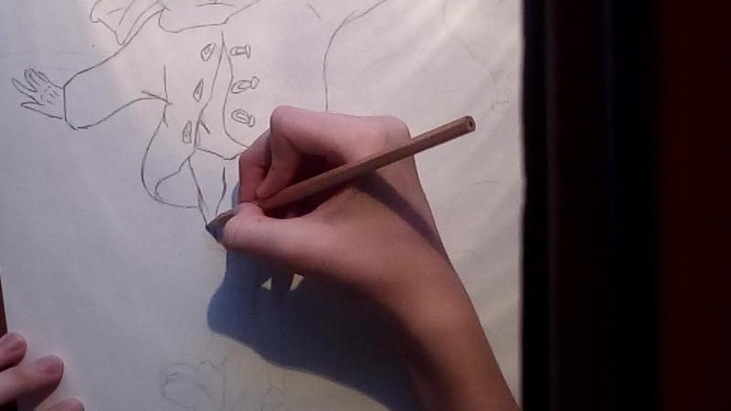Вскоре продолжение Рисунок я исполняю на листе а3 но все же постораюсь поскорее выпустить вторую часть