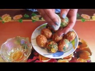 Как покрасить яйца на Пасху - Мраморные и Малахитовые Яйца к Пасхе. The Decoration of Easter Eggs