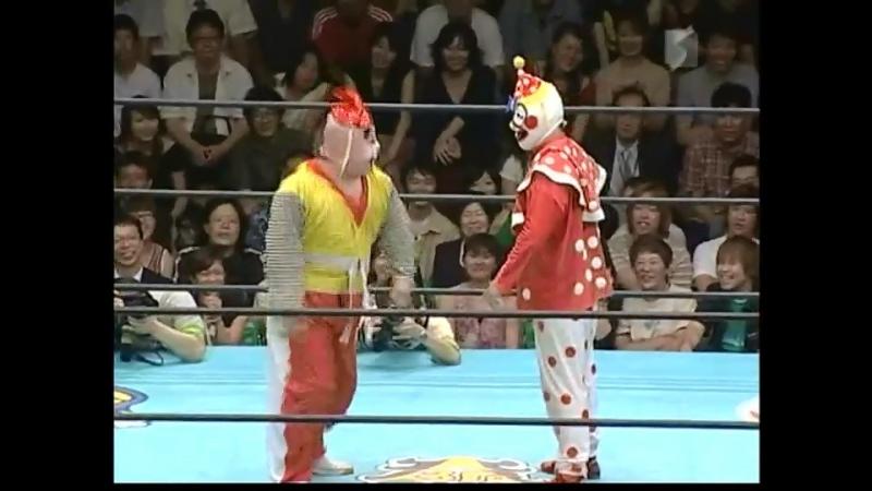Densen Man, Ebessan, Gamma vs. Kuishinbo Kamen, Perro, Super Delfin (Osaka Pro - Tokyo Holiday Paradise 2004)