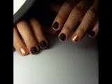 Матовые ногти с ярким дизайном