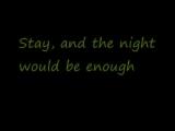U2-Stay (Faraway, So Close!) (Lyrics)