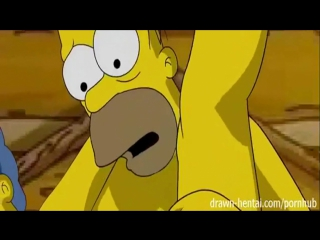 Simpsons sex. famous toons facial. симпсоны. секс мардж и гомэр. порно мультик.