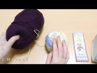 Женская шапка в технике Бриошь спицами. Часть 1 -- Brioche Stitch -- Womens hats knitting
