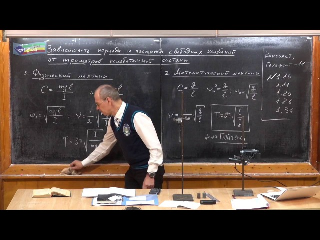 Урок 328. Зависимость периода свободных колебаний от параметров колебательной системы