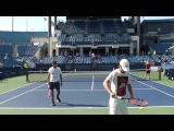 Roger Federer Serve Practice at Cincinnati 2015 #2