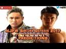 NJPW Sakura Genesis 2017 IWGP Heavyweight Championship Kazuchika Okada vs. Katsuyori Shibata