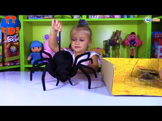 ПАУК ЧЕРНАЯ ВДОВА распаковка игрушки на Радио управлении от Ярославы Black Widow Spider ...