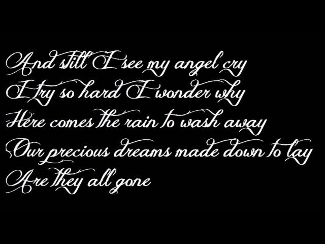 Gotthard - I've Seen An Angel Cry (lyrics)