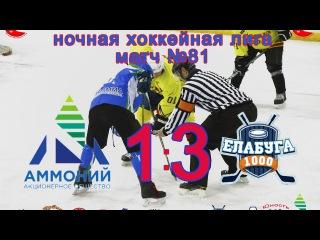 Матч №81 АММОНИЙ-ЕЛАБУГА 1:3 НХЛ-17 (НАБЕРЕЖНЫЕ ЧЕЛНЫ)