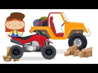 🚗El SUV en el desierto🌴 JEEP de juguete. La Doctora McWheelie. Dibujo animado de coches para niños