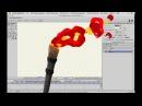 Анимация горения факела в Anime Studio Pro Moho Pro и привязка огня к кости