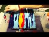 Fluid Acrylic Painting Ocean Sundown, Sunset Painting, Acrylmalerei Sonnenuntergang Demo