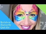 2 Rainbow Cake  Butterfly  Face Painting Design