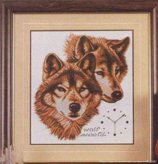 Схема по вышивание картинки волков