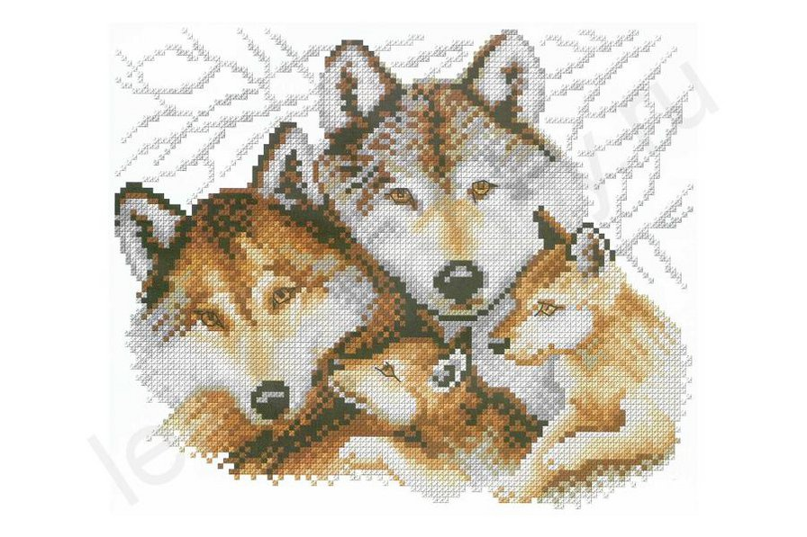волки крестком схемы