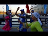 Port said Folk dance troup _ Welcoming Dutch passenger ship at Port Said, 10242014