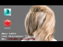 CGLYO - Animating realistic female hair tutorial with 3d Max Redshift