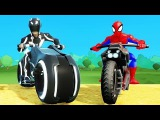 Finger Family Song Nursery Rhyme &amp Spiderman Hulk Sam Flynn Tron Legacy Superheroes Fun