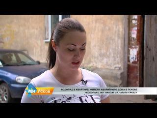 РЕН Новости Псков 11.07.2017 #Аварийный дом на ул О Кошевого 3