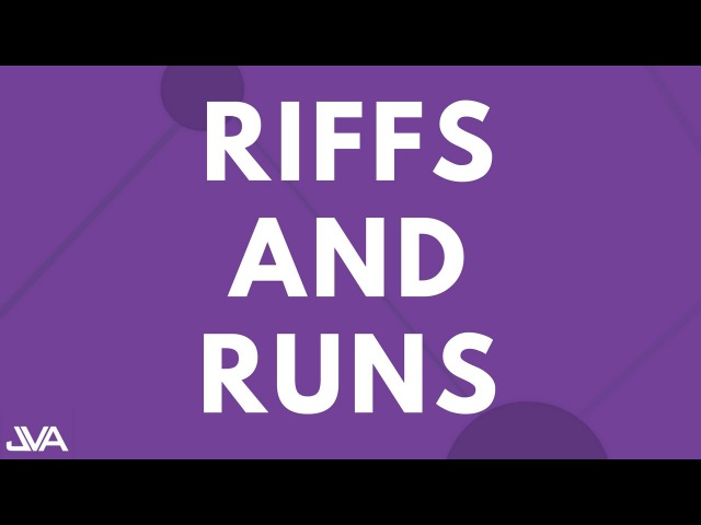 RIFFS AND RUNS (EASY) - VOCAL EXERCISE