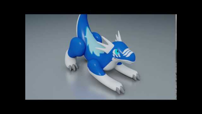 [3DCG] Bullet softbody simulation Inflatable Aaron Dragon
