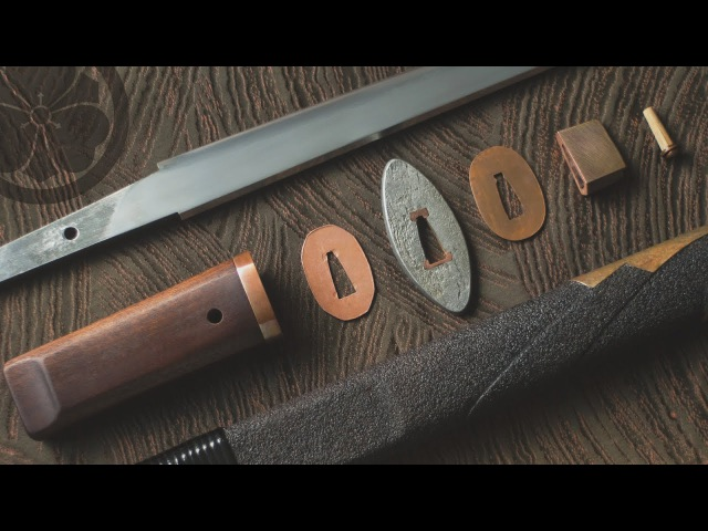 One bamboo peg - takedown assembly of a classical tanto style knife