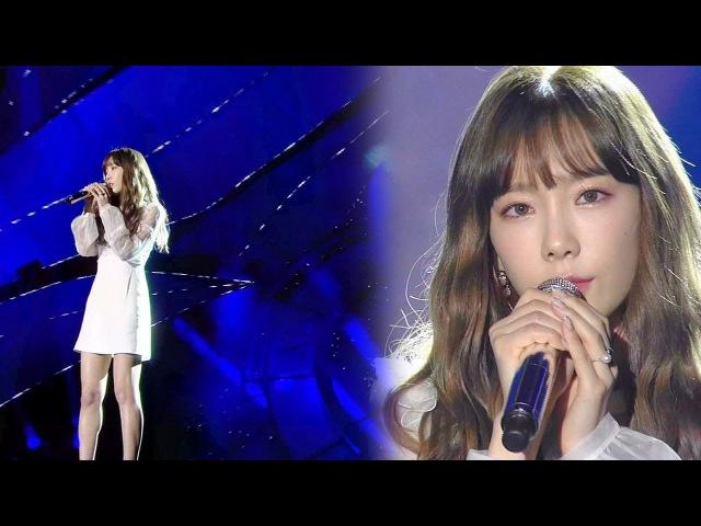'여신' 태연 Taeyeon 의 감미로운 발라드 '11 11' @2016 SAF SBS 가요대전 2부 20161226 кфк