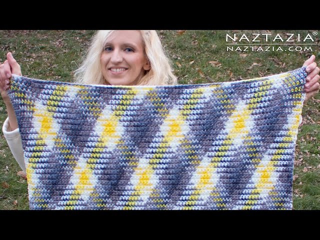 DIY Tutorial - How to Crochet Color Planned Pooling Argyle for Super Scarf Afghan Blanket