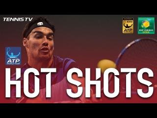 ФАБИО ВНОВЬ ХОРОШ (Hot Shot: Fognini Shows Fabulous Feel In Indian Wells 2017)