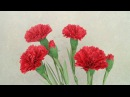 How To Make Red Carnation Paper Flower From Crepe Paper - Craft Tutorial 2