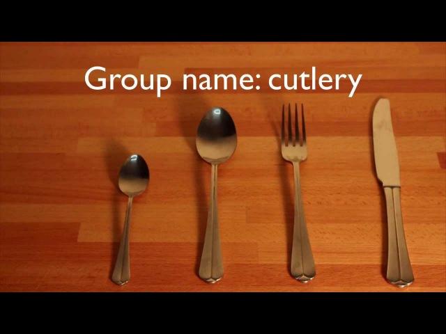 Basic English vocabulary Knife fork spoon cutlery