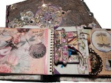Mixed Media - Altered Fairy Book - Fairyland Interactive Pop-Up JournalAlbum